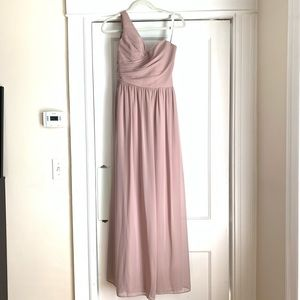 Alfred Angelo Chiffon Gown in Rum Pink